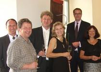 v.l.n.r. Nico von Scotti, Thorsten Holch, Thomas und Annette Schleuning, Alexander Schweitzer, Theresia Riedmaier